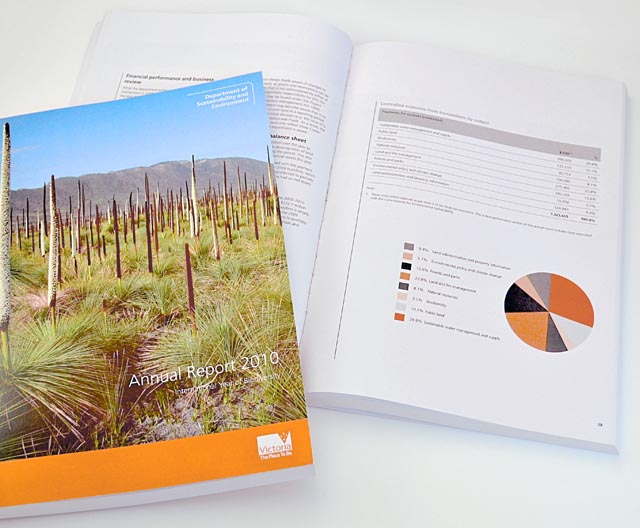 DSE annual report by Hatch Creative, Melbourne