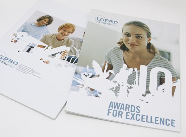 LGPro Awards 10 book by Hatch Creative, Melbourne