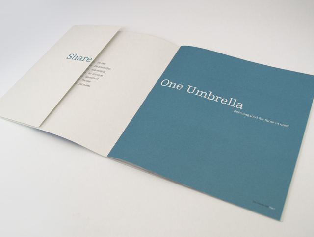 One Umbrella annual report [inside cover] by Hatch Creative, Melbourne