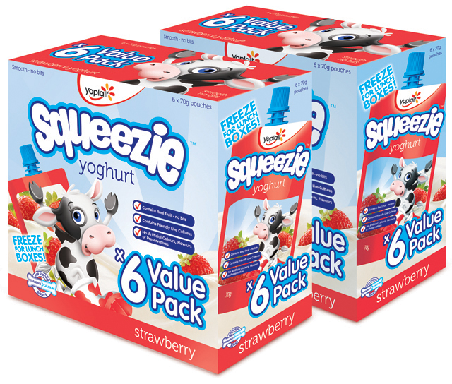 Yoplait Squeezies packaging by Hatch Creative Melbourne