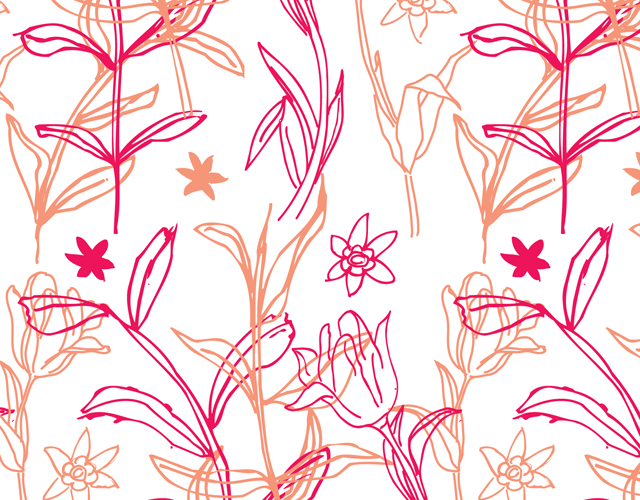 Floral pattern by Hatch Creative, Melbourne