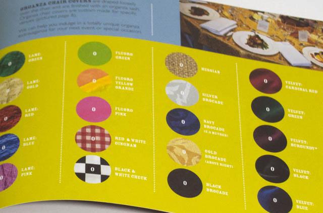 TableWrap booklet detail. Hatch Creative, Melbourne