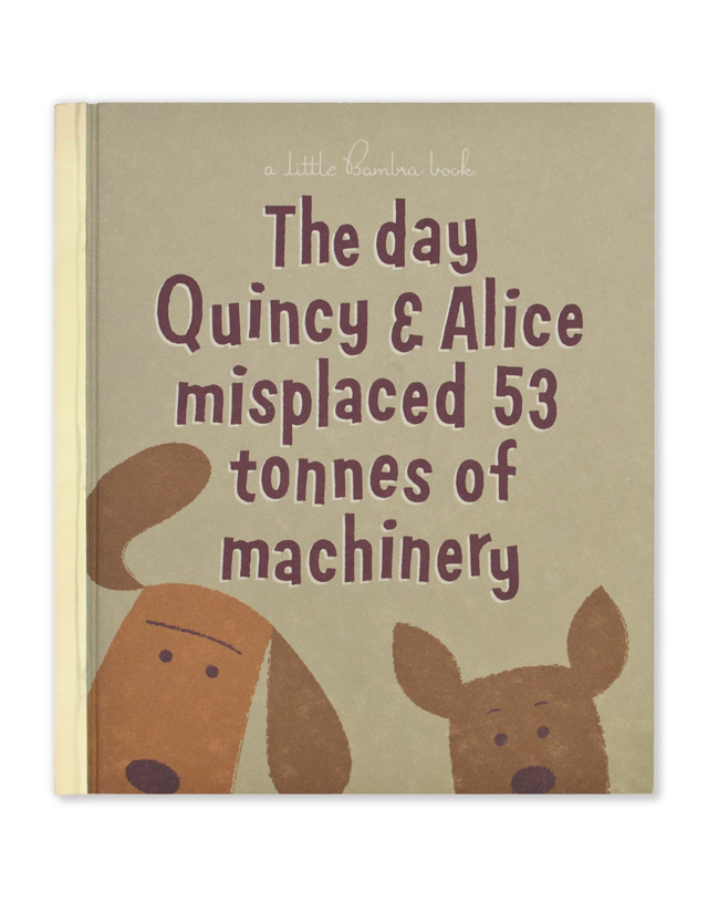 Quincy & Alice book cover by Hatch Creative, Melbourne