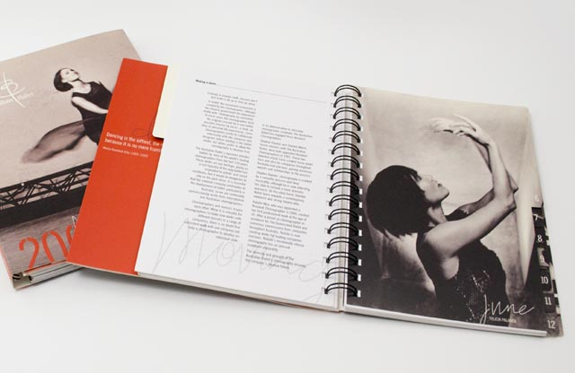 Australian Ballet diary spread by Hatch Creative, Melbourne