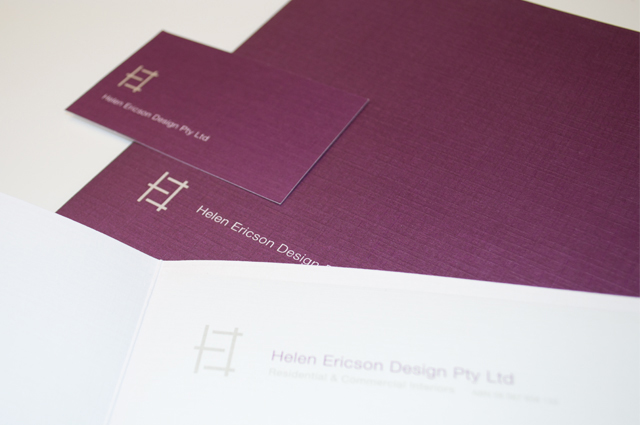 Helen Ericson stationery by Hatch Creative, Melbourne