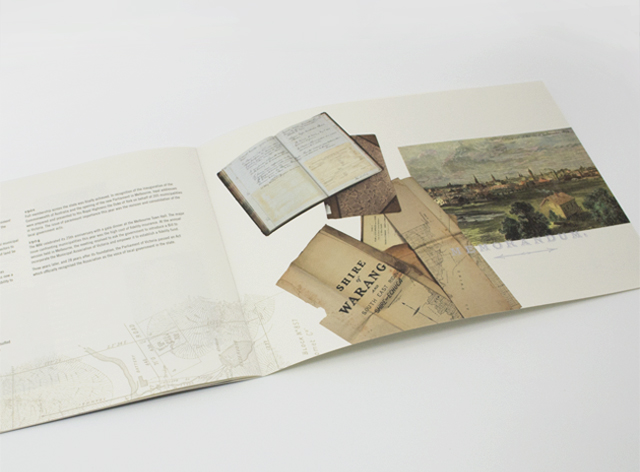 Municipal history book spread 2 by Hatch Creative, Melbourne