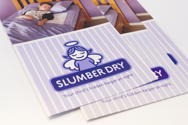 SlumberDry flyer by Hatch Creative, Melbourne