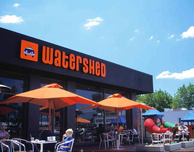 Watershed carwash cafe signage. Hatch Creative, Melbourne